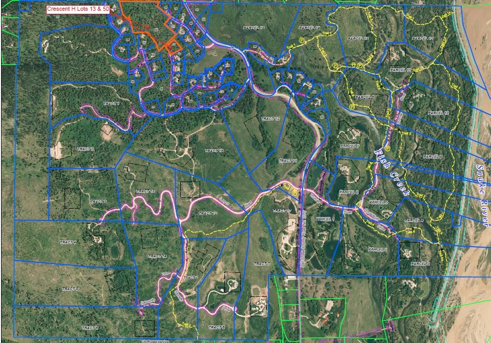 CRESCENT H TRAIL MAP