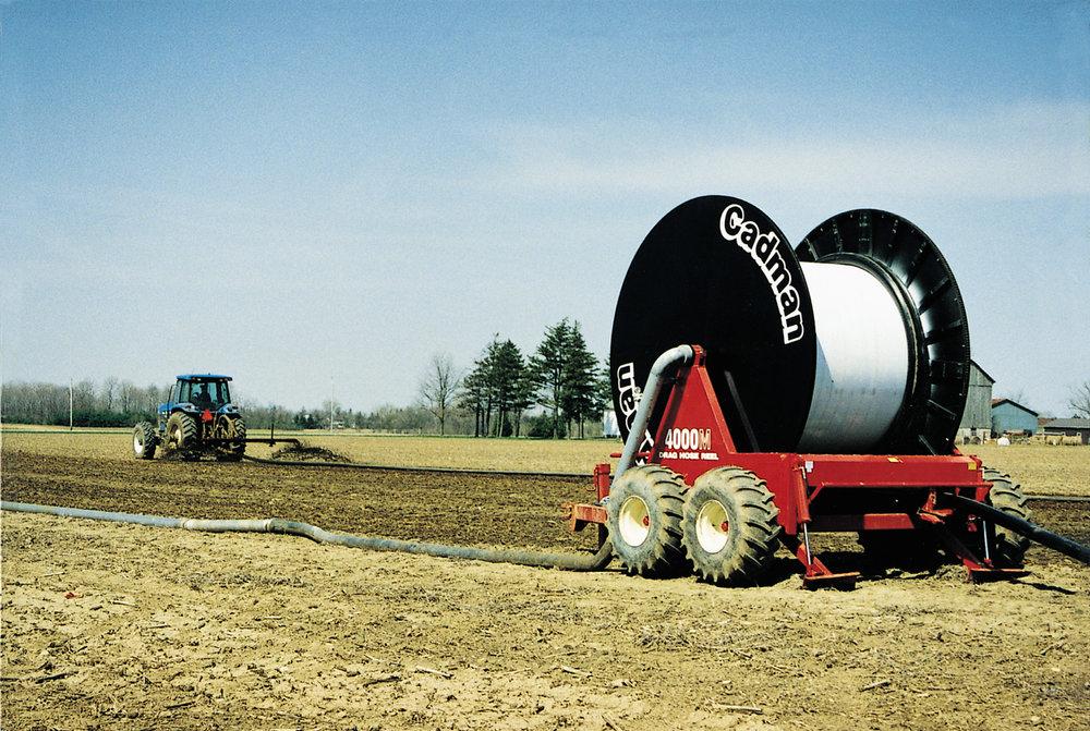 cadman reel with tractor
