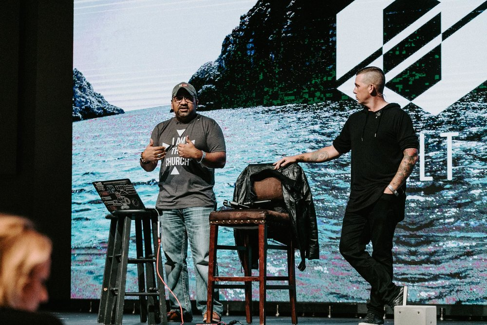 Joey Santos and I speaking at the SALT Conference