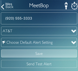 Alert Settings by Text Message/SMS