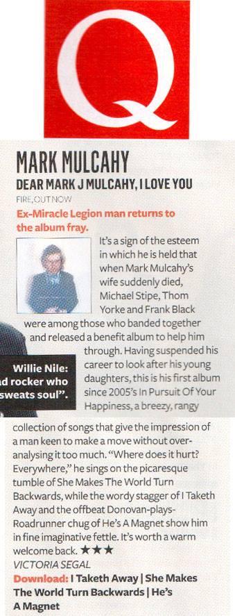 Q Magazine (UK) Review - July 2013