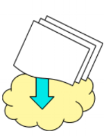 sharing docs in the cloud icon