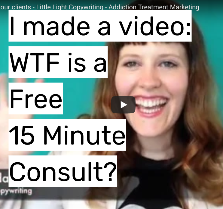 i made a video wtf is a free 15 minute consult