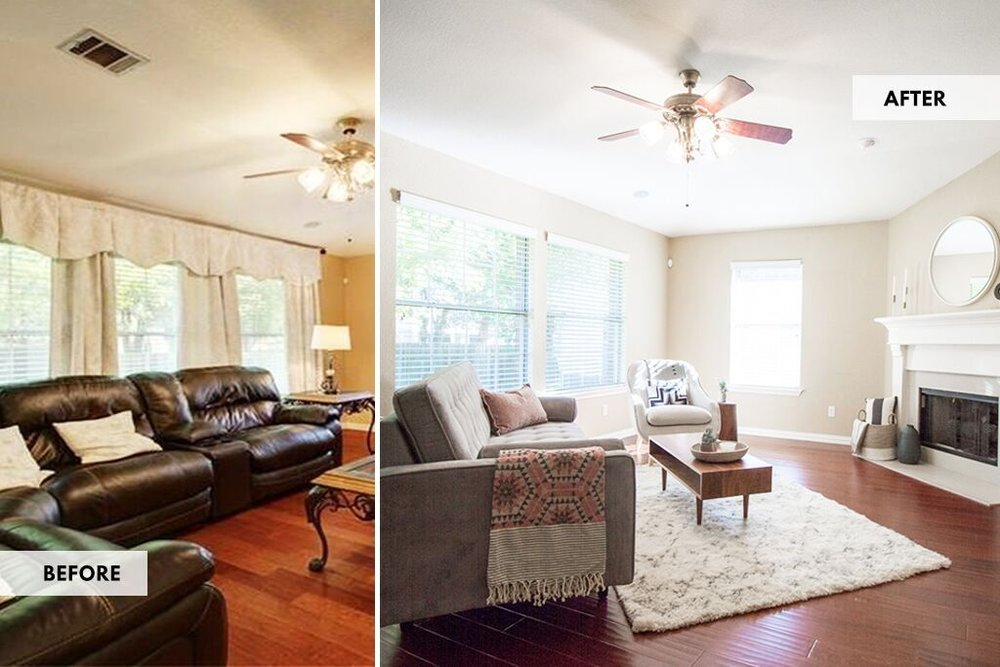 Love Ding Blog Home Styling  Before And After_Project_Update_McLoud_Home_Staging_Living_Room_Before_After.
