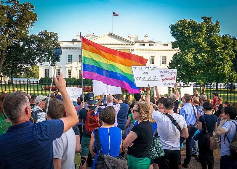 Ted Eytan  from Washington, DC, USA -  2017.07.26 Protest Trans Military Ban, White House, Washington DC USA 7646