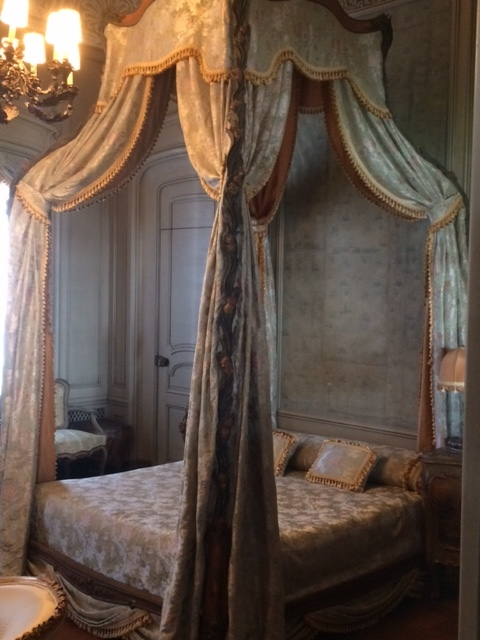 This was NOT one of the beds we got to sleep in! (In Miami's Vizcaya mansion, which we visited.)
