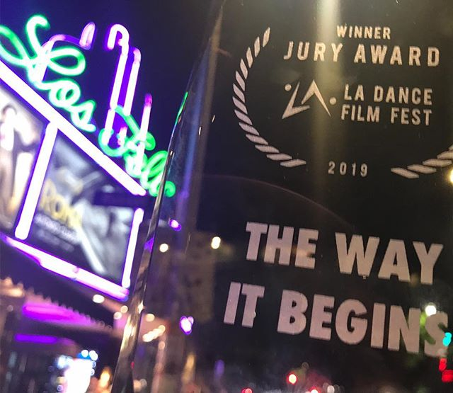 So humbled by this wonderful honor! We experienced so many wonderful films at this inspiring event. Thank you so much @ladancefilmfest for putting together such an incredible program of talent and we couldn't be more excited about the honor of being included among such talented storytelling.  #dance #movie #musical #juryaward #gratitide #choreography #winner #proud #amazingteam #family #juryaward #love #joy #happiness #journey #goals #robertroldan #jessicaleekeller #beccasweitzer #jeremyhorn #kristenhorn