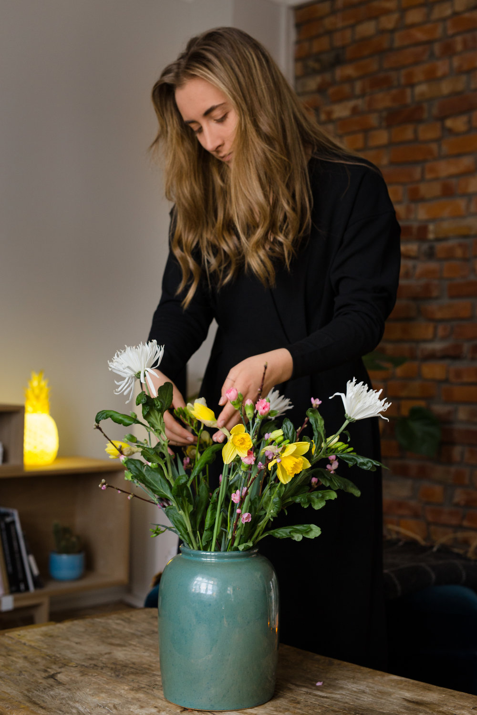 fredrikke med blomster
