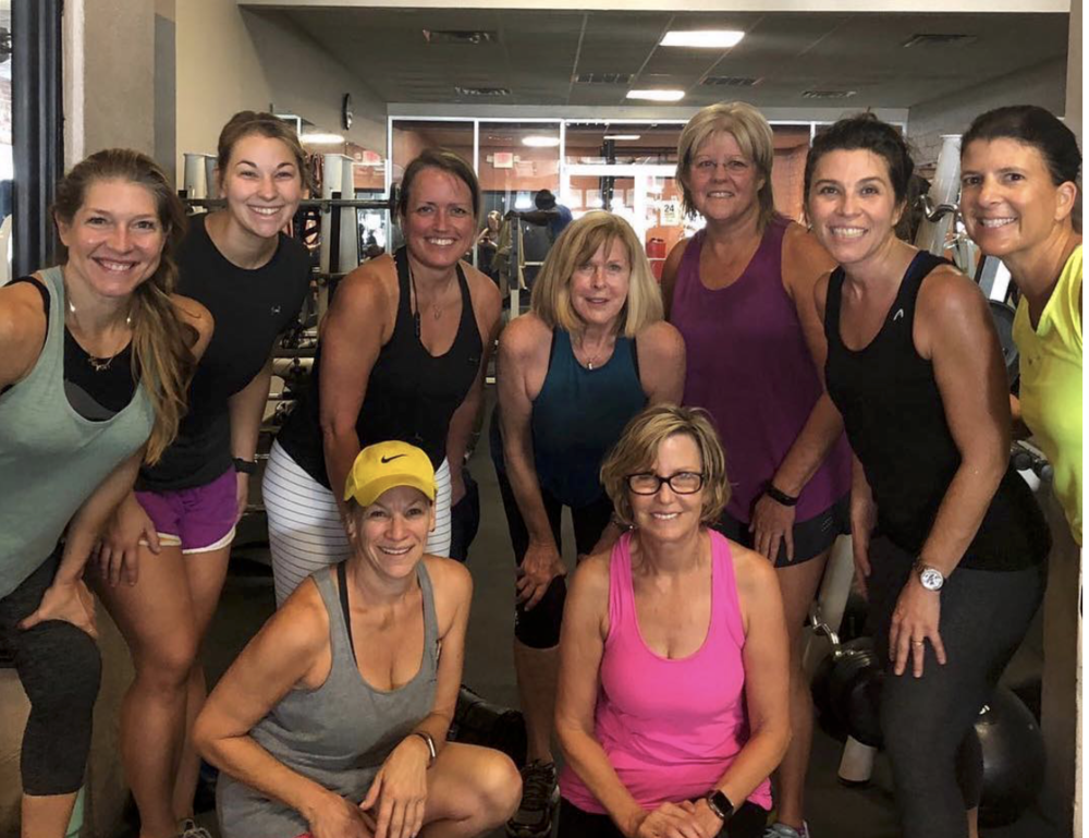 """""""THIS WAS AN AWESOME assembly of people in my FASTer Way To Fat Loss classrooms! We all gathered at Urban for  #legday  and got this group shot!"""