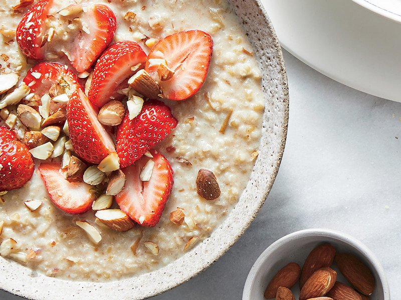 Strawberry Bulgur Bowl - This hearty breakfast bowl makes us berry happy. Check out Cooking Light's Strawberry Bulgur Bowl recipe! Read Food Network's article, Meet this Grain: Bulgur if you want to learn more about this super grain.
