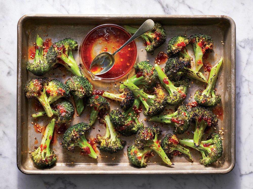 Charred Orange-Chile Broccoli -