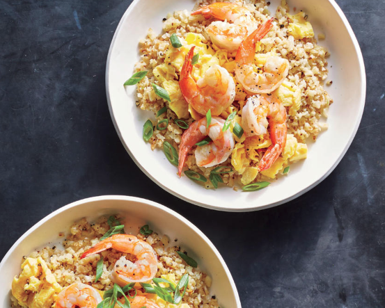 Shrimp Fried Cauliflower Rice - This five-ingredient main is a great way to get more seafood into your weeknight rotation. Seek out shrimp that's free of sodium tripolyphosphate (STP), a common preservative that significantly boosts the sodium in your shrimp.