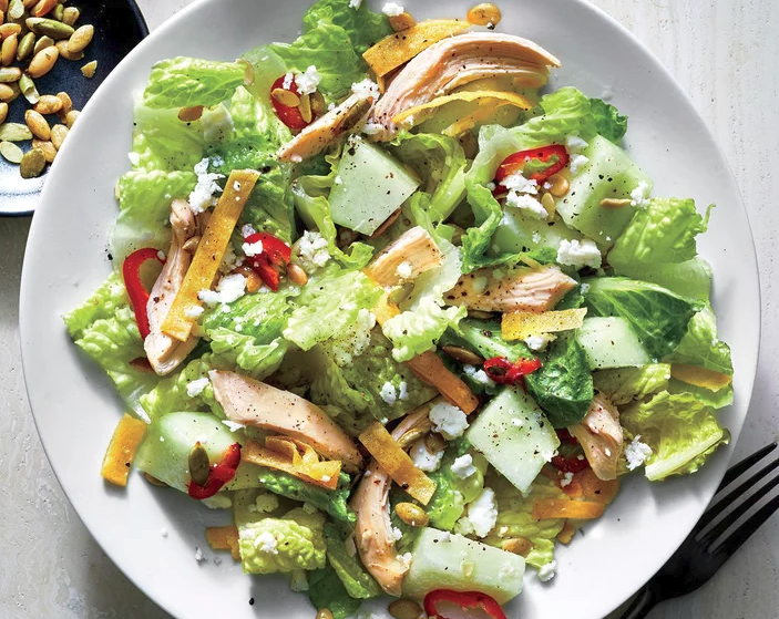 Mexican-Style Chicken and Honeydew Salad -