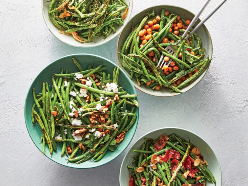 Feta & Walnut Blistered Green Beans -