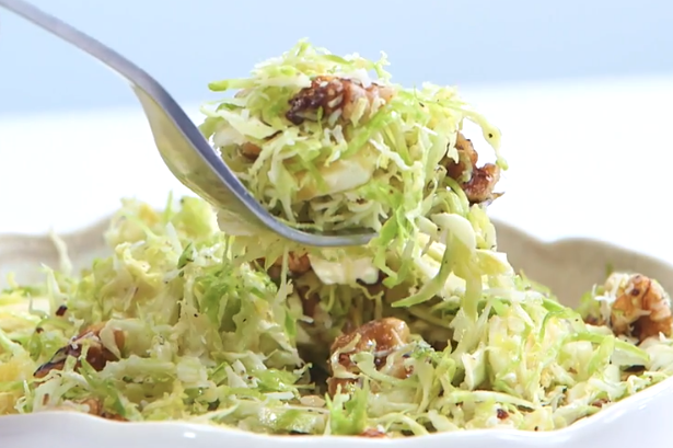 Shaved Brussels Sprouts Salad -