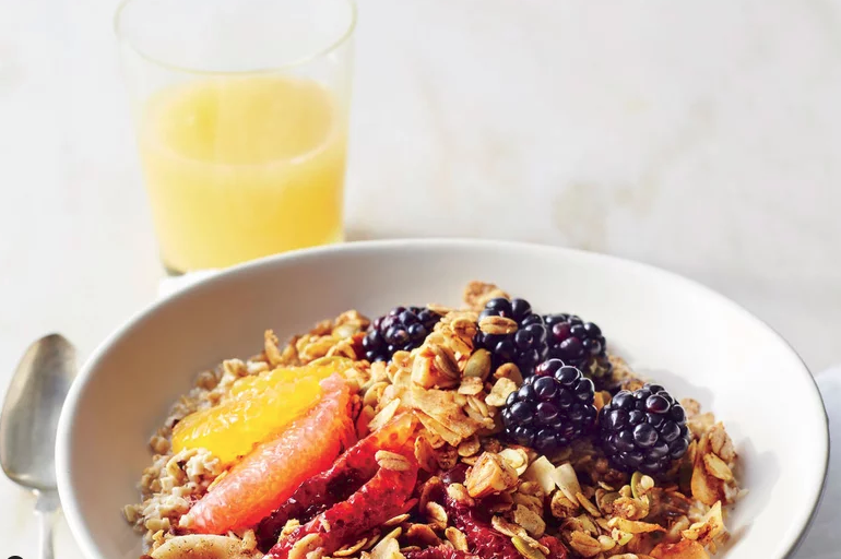 Blackberry-Citrus Granola Bowl -