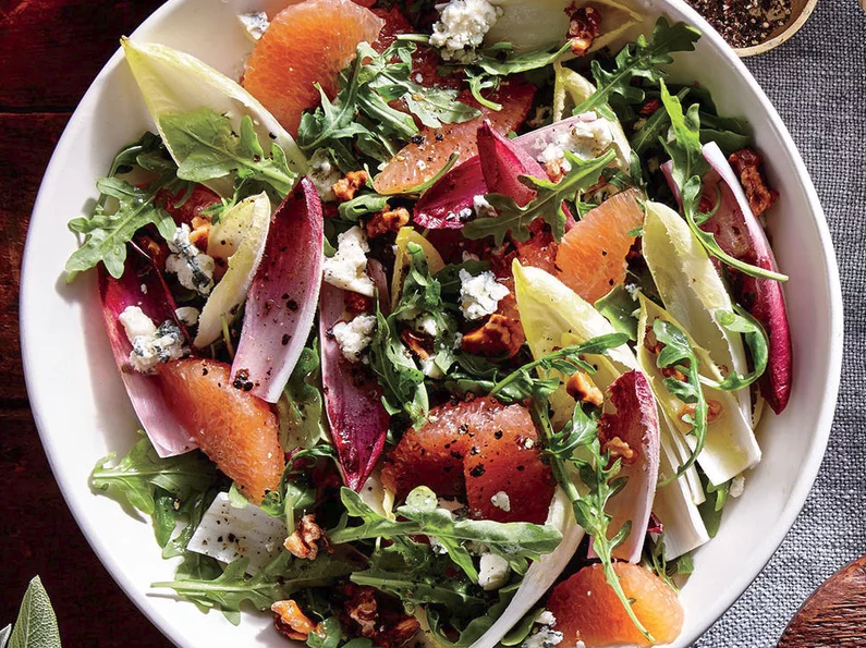 Grapefruit, Endive, and Arugula Salad -