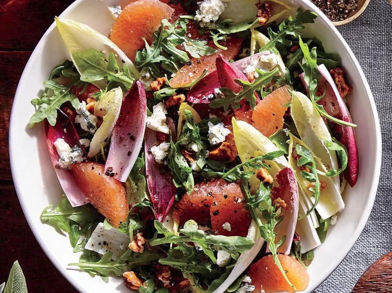 Grapefruit, Endive, and Arugula Salad -