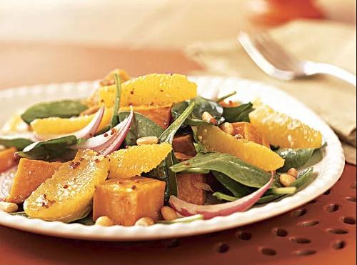 Roasted Sweet Potato and Orange Salad -