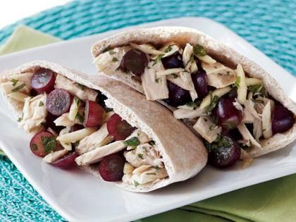 Red Grape & Tuna Salad Pita -