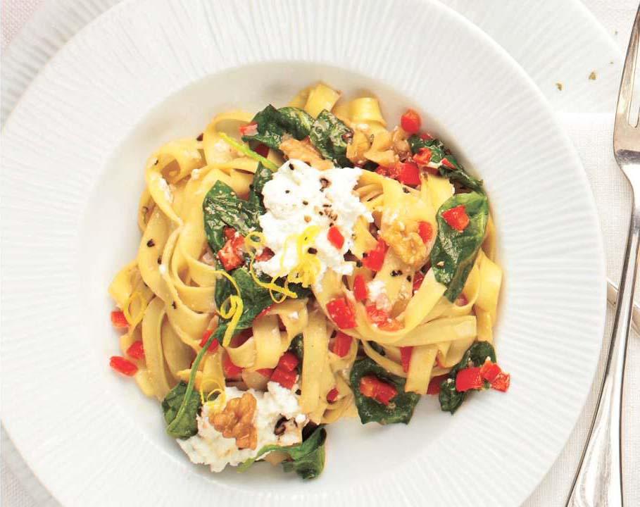 Ricotta Spinach Pasta -