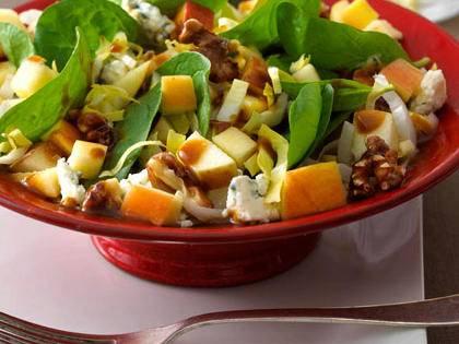 Chopped Apple Salad with Pomegranate Vinaigrette -