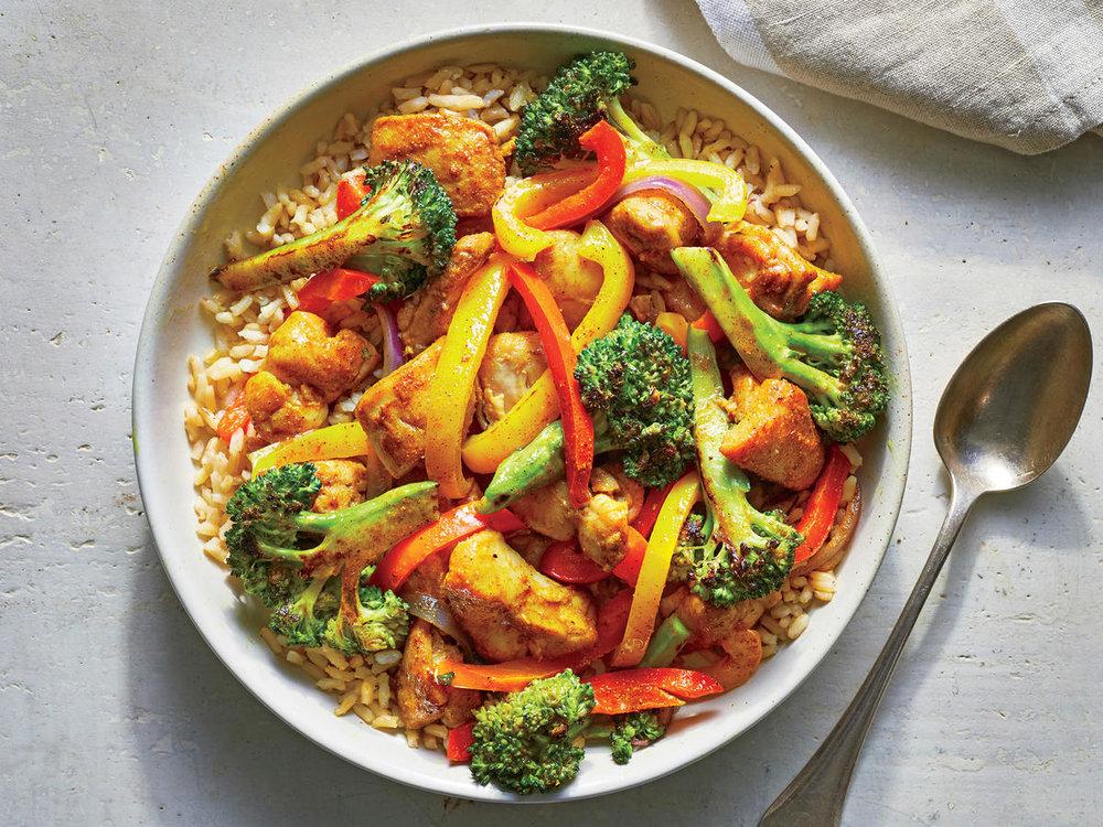 Chicken Curry Stir Fry -