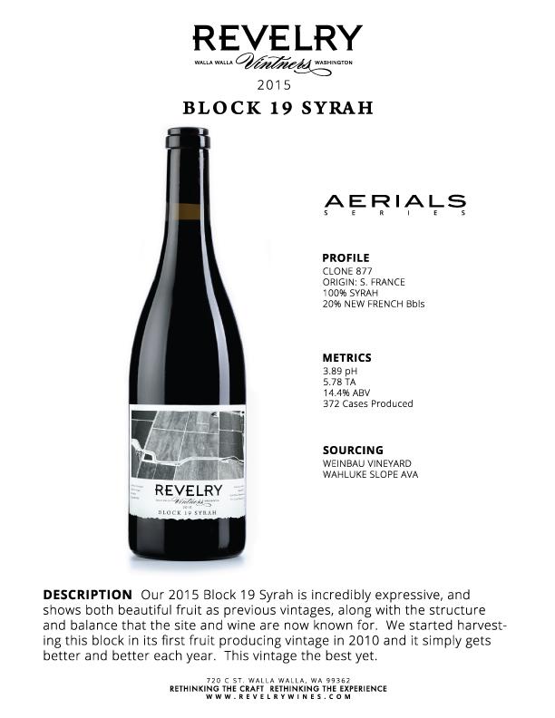 2015 BLOCK 19 SYRAH