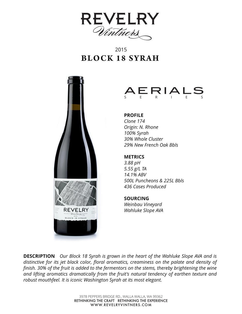2015 BLOCK 18 SYRAH