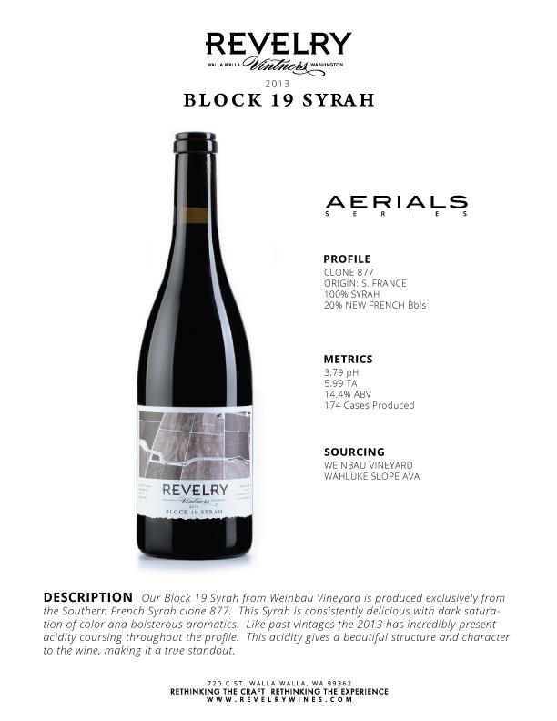2013 BLOCK 19 SYRAH