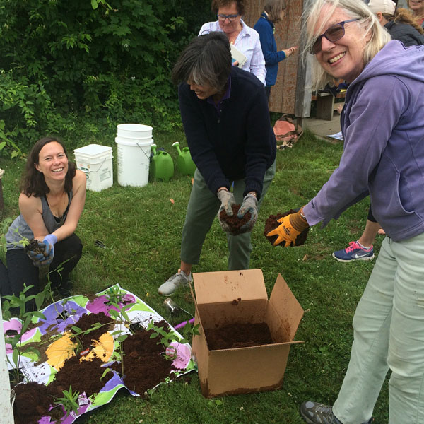 """Lots of fun had by all today at our native pollinator garden workshop!"" - - Audubon Greenwich"