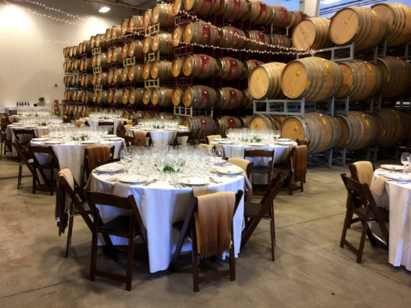 {2017 Library Wines Dinner Set-up}