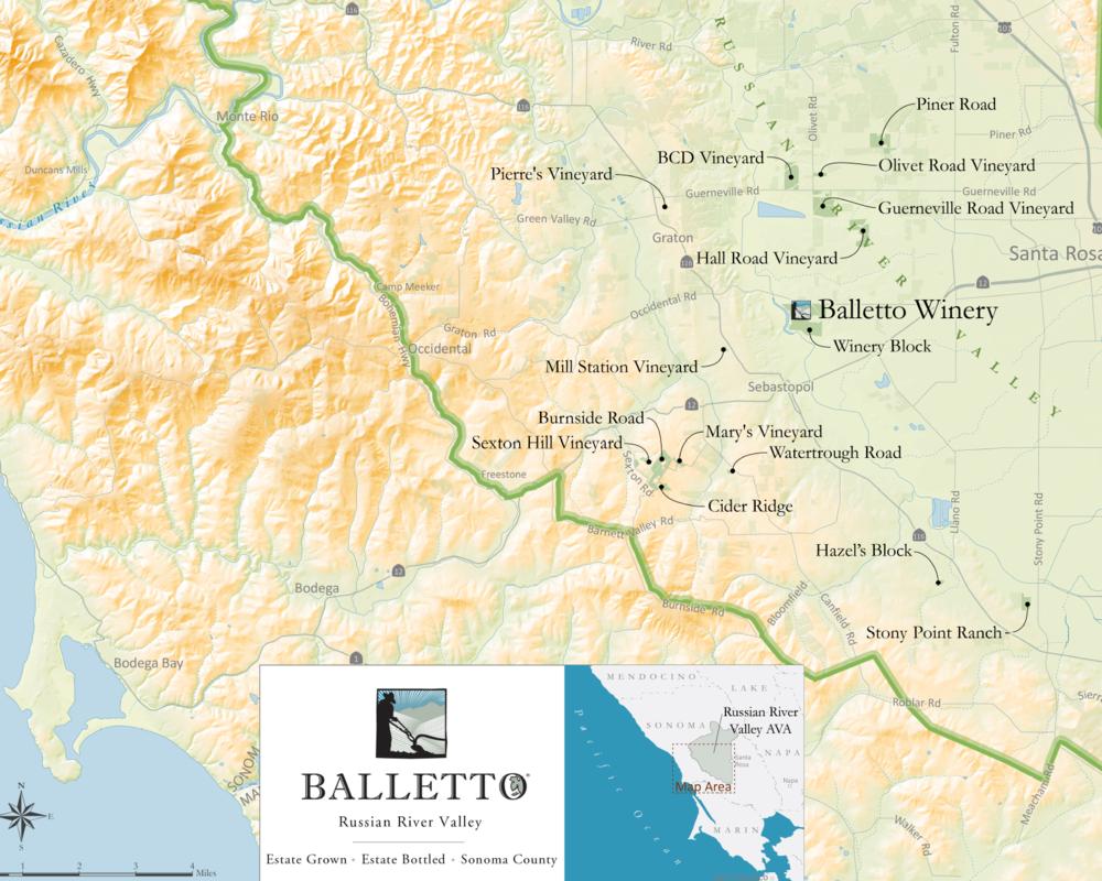 - BALLETTO VINEYARDS MAP