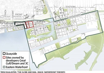 - Click Pic: Google's Smart City is where Google will be investing $1 billion dollars and moving their Canadian headquarters a short distance from Sugar Wharf Condos.