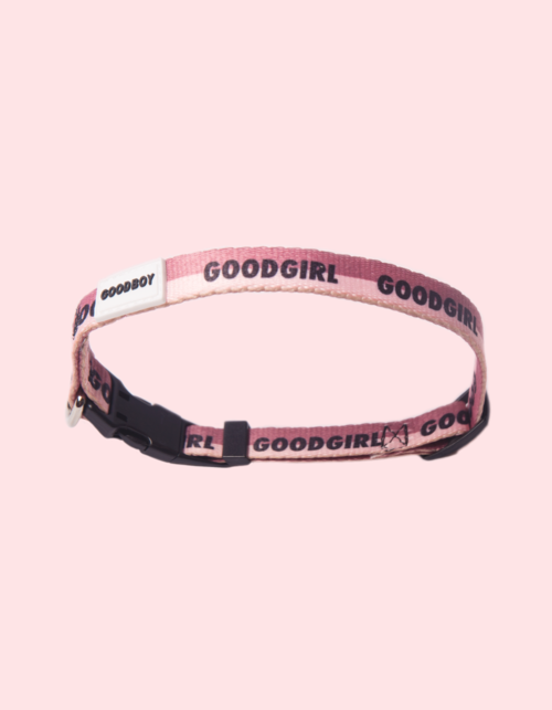 GOODBOY - GOODGIRL COLLAR - Who's a GOODGIRL!? Make sure she knows it with the GOODGIRL collar. Made from durable nylon to prevent wear and tear. She'll be the talk of the dog park.