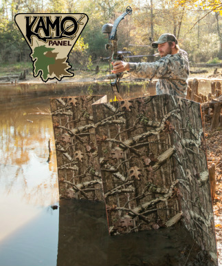KAMO PANEL - Kamo Panel is the outdoor enthusiast's answer to camouflage building materials. Lightweight and easy to work with, Kamo Panel is designed to withstand rain, snow, sun, and anything else that mother nature can dish up. Kamo Panel is made in the USAClick here for Kamo Panel's Facebook pageSee KAMO Panel in action: Video
