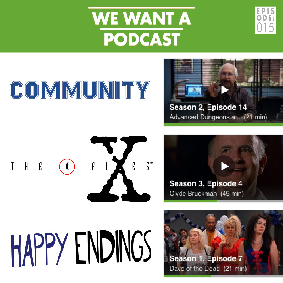 WWAP #015: the one where they all watch tv - This one is real special y'all. Not only do we all get to kick back and watch some TV together, be we've got a special guest also! This week we're joined by our friend and yours LAURIE MURRAY. We're also visited by the cast of Community, The X-Files, and Happy Endings (kind of). Later on we talk Law & Order SVU for a hot second. Oh, and The New Girl comes up a bit toward the end.So if you like TV, or podcasts about TV, or TV recaps or whatever: this I guess is the episode for you. And if not? I dunno, probably not really up your alley honestly.We'll see you next week when we return to our regularly scheduled program.