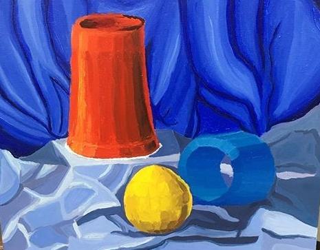 "Planar Study  Oil on Canvas  16"" x 20"""