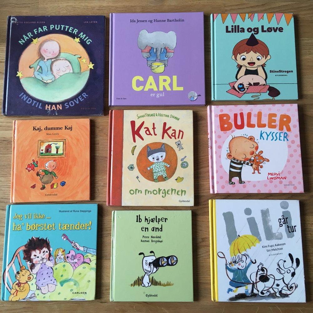 Alle bøgerne kan lånes eller bestilles på dit lokale bibliotek eller på bibliotek.dk