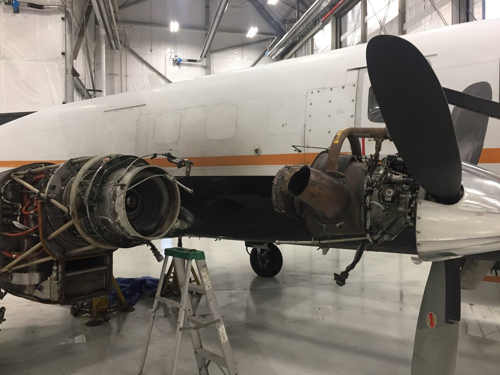 PT-6 turboprop engine repair.