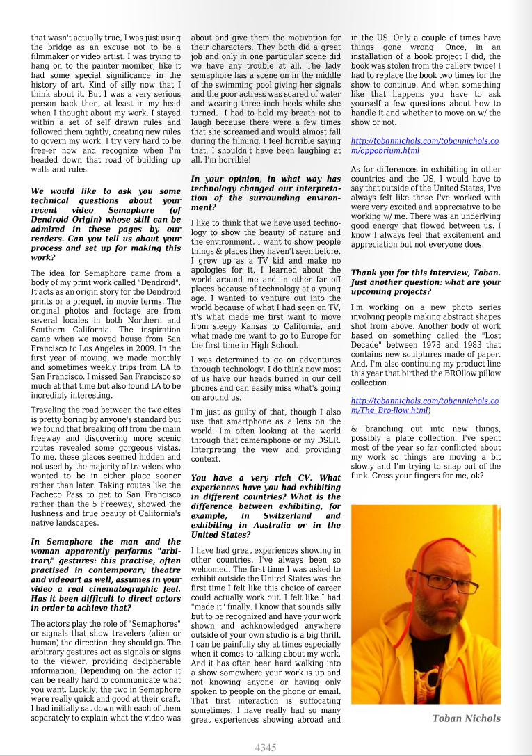 Interview. Stigmart ArtPRess , VIDEO FOCUS Stigmart 10. 2013.