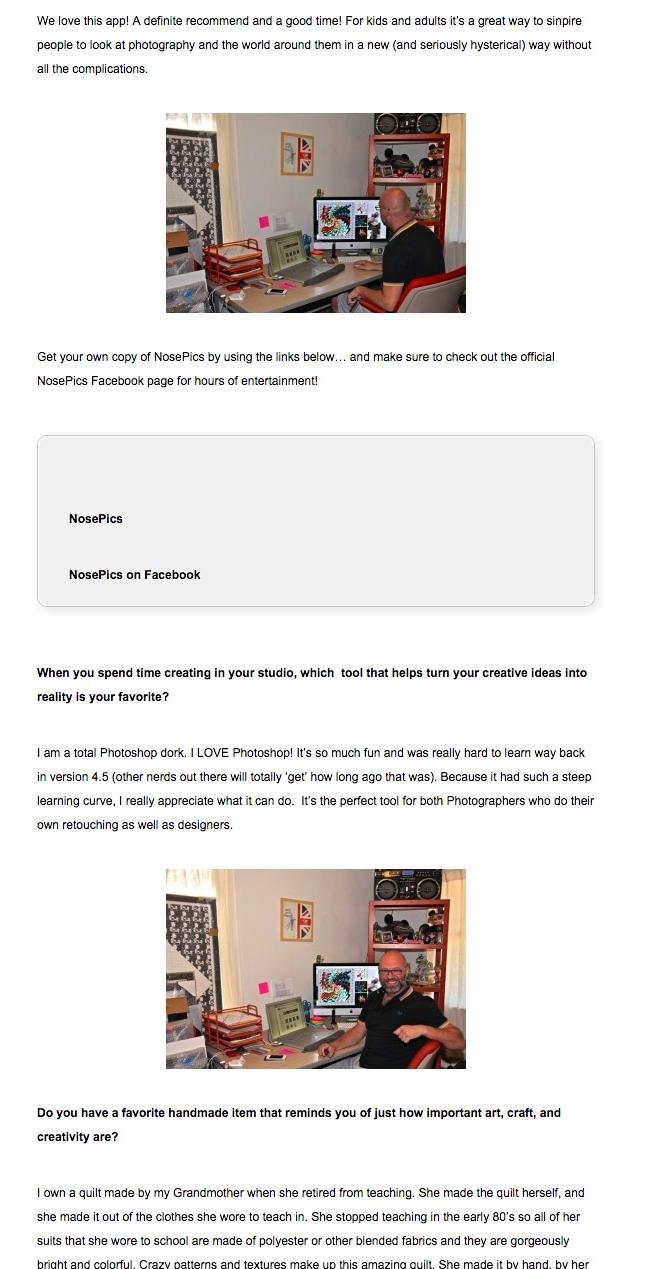 Interview. Handmade Men.  2012.