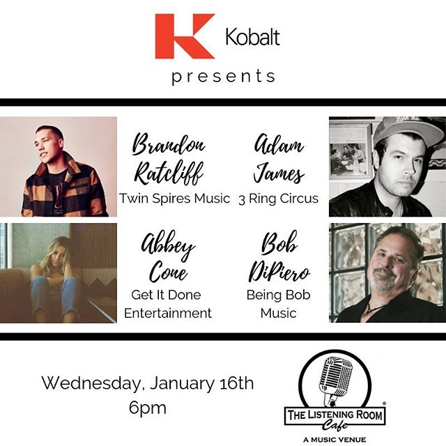 Come on out Wednesday, January 16 to @listeningroomcafe. I will be performing with my @kobaltmusic buddies 🙌🏻