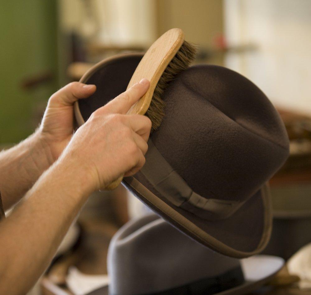 7.brushing grey hat.jpg