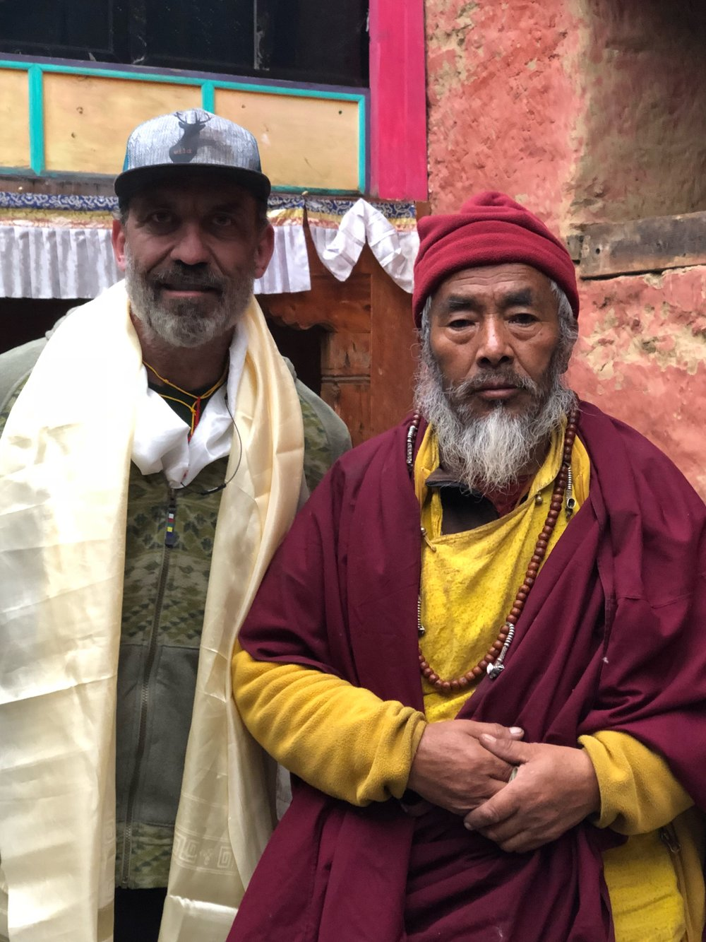 Blessed by a monk in Panboche.png