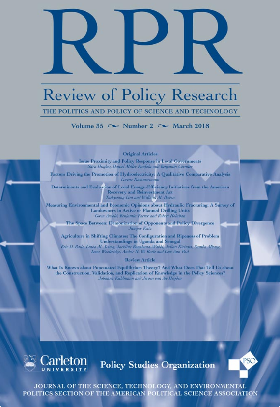 "- Bullock, Clair*, Kerry Ard and Grace Saalman*. 2018. ""Measuring the relationship between state environmental justice action and air pollution inequality, 1990-2009."" Review of Policy Research. doi.org/10.1111/ropr.12292."