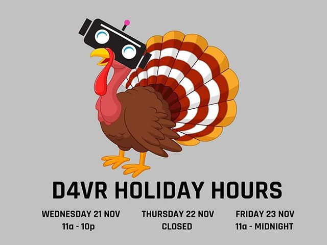 Don't forget, extended and holiday hours this week!