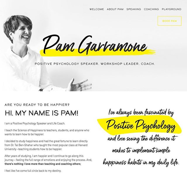 "Our latest #branding and #webdesign project. It's always a pleasure when you have so much fun in working with amazing clients! Thank you @pamgarramone  for your nice review: ""Huge kudos to the fabulous Francesca Lo Cascio who designed my new website www.pamgarramone.com! And branded me! She is amazing 😊😊😊❤️❤️❤️I'm so grateful and happy for all the wonderful new people in my life and the ones who've stuck by me through many many years and many many highs and lows! My heart is full. ❤️❌⭕️ . . . . #webdesigner #brandidentitydesign #branddesign #bostondesign #bostongraphicdesign #bostonwebdesign #creativeboston #bostoncreatives #bostoncreations #bostoncreativecompany"