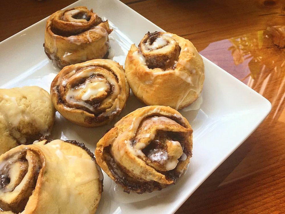 CINNAMON BUNS - $3.25 each / $32.00 per dozen(also available in a take-n-bake pan of 5 buns for $14.00)
