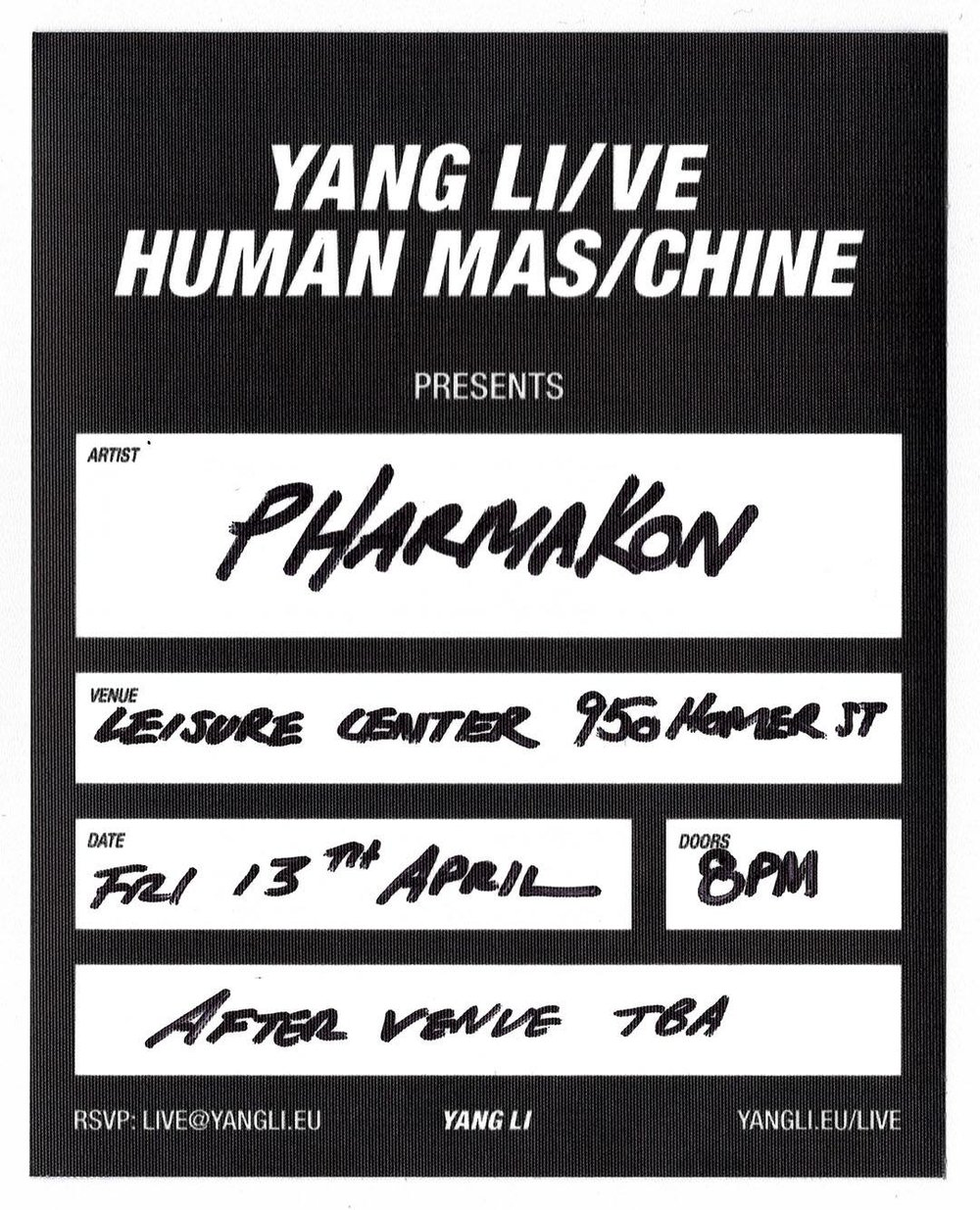 JS—A —Vancouver—Solo DJ at YANG LI presents Pharmakon